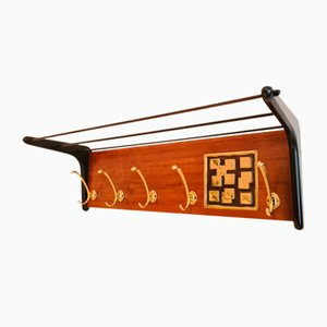 Coat Rack with Brass Details by Alfred Hendrickx