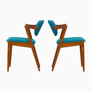Model 42 Chairs by Kai Kristiansen for Skovmand & Andersen, 1960s, Set of 2