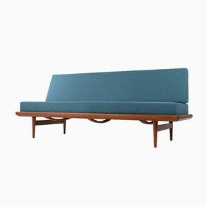 Sofá cama Minerva de teca de Peter Hvidt & Orla Mølgaard Nielsen para France & Søn / France & Daverkosen, años 60