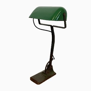 Vintage Green Enamel Bank Lamp from Astral, 1930s