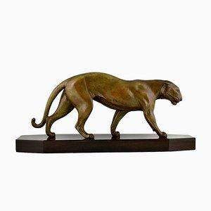 Escultura de pantera Art Déco, Robert Bousquet, Francia, 1930