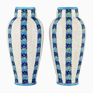 Art Deco Vasen von Charles Catteau für Boch Frères, 2er Set