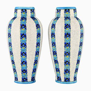 Art Deco Vases by Charles Catteau for Boch Frères, Set of 2
