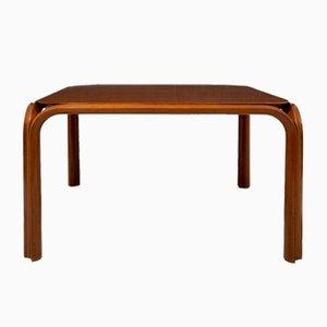 Walnuss Tisch im Stil von Angelo Mangiarotti, 1960er