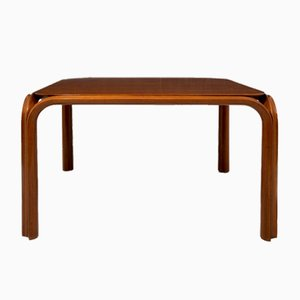Walnut Table in the style of Angelo Mangiarotti, 1960s