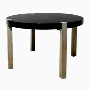 Ausziehbarer italienischer Tisch aus Nussholz im Stil von Ettore Sottsass, 1970er