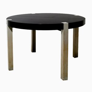Extendable Italian Table in Walnut in the style of Ettore Sottsass, 1970s