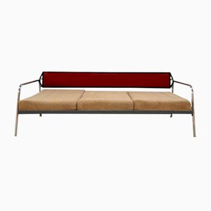 Verstellbares Sofa mit Rohrgestell, Tschechoslowakei, 1960er