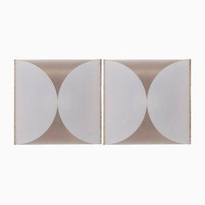 Modell Clessidra Wandlampen von Bobo Piccoli für Fontana Arte, 1970er, 2er Set
