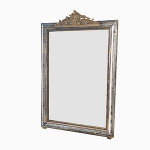 Französischer Spiegel mit vergoldetem Rahmen, 19. Jh