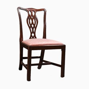 Antique Victorian English Chippendale Revival Chairs in Mahogany, Set of 8