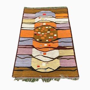 Polish Abstract Kilim Zagony by Piotr Grabowski for Polish Artistic Handicraft Carpets, 1970s