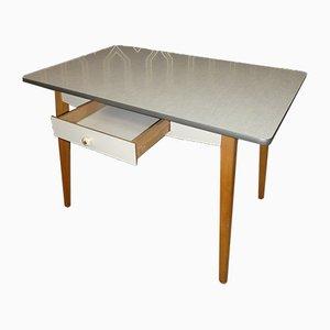 Mesa de comedor Resopal con cajón, años 50