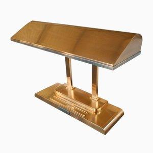 Art Deco Bronze Bankiers Lampe von Smith Metal Arts Inc., USA, 1940er