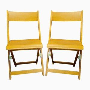 Vintage Cinema Theater Folding Chair, 1960s