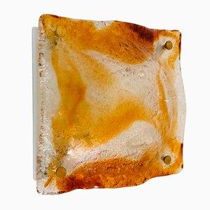 Lámparas de techo o pared de cristal de Murano de Mazzega, años 70. Juego de 4