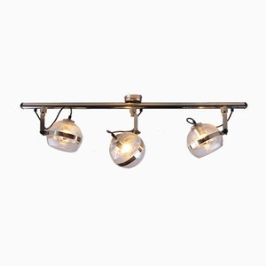 Ceiling Lamp in Chrome and Glass, 1960s