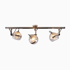 Deckenlampe aus Chrom und Glas, 1960er