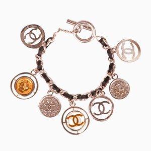 Chanel Leder Münzen Armband, 1997