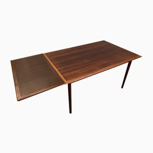 Large Scandinavian Dining Table in Rosewood and Beech, 1960s