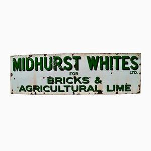 Cartel publicitario Midhurst Whites vintage