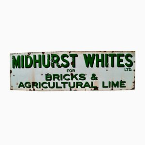 Vintage Midhurst Whites Advertising Sign