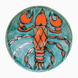 Crayfish Ceramic Plate by Bártfay Judit