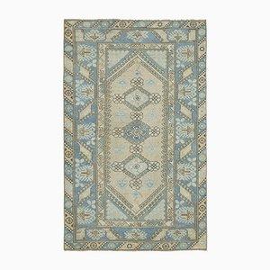 Blauer türkischer Oushak Teppich