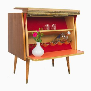 Mid-Century Bar Cabinet with Bottle Holder, 1960s