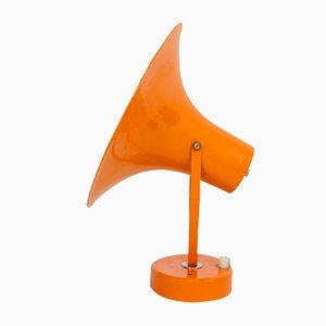 Lámpara de pared ajustable naranja, años 70
