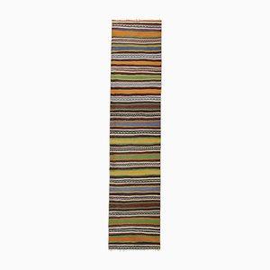 Long and Narrow Handmade Staircase Turkish Wool Kilim Rug