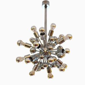 Large Chrome Space Age Sputnik Chandelier from Reggiani