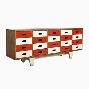 Bank Chest of School Drawers by James Leonard for Esavian ESA, 1950s