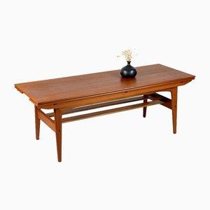 Mesa de centro o de comedor danesa de teca de Kai Kristiansen para Trioh, años 60