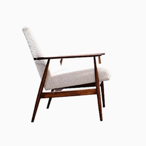 Armchair in Neutral Boucle by Henryk Lis, 1960s