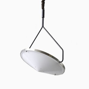 Vintage Pull-Down Compass B.1280 Ceiling Lamp by B. Lodder for Raak Amsterdam, 1970s