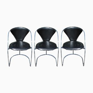 Linda Chairs from Arrben, Italy, 1980s, Set of 3