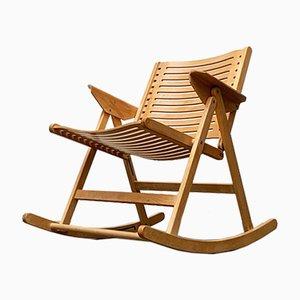 Mid-Century Rex Foldable Rocking Chair by Niko Kralj