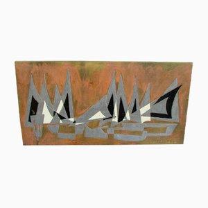 Mesa moderna de metal de Jpotage, años 30