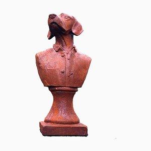 Escultura de perro de hierro fundido, años 70