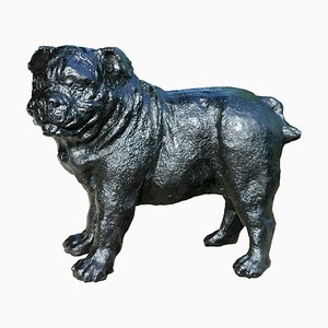 Pug Sculpture in Cast Iron, 1970s