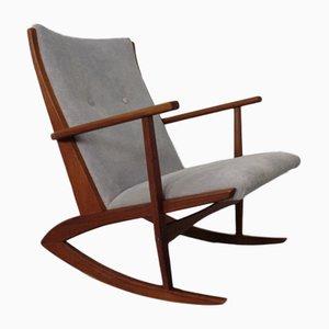 Danish Teak Rocking Chair by Holger Georg Jensen for Tønder Møbelværk, 1950s
