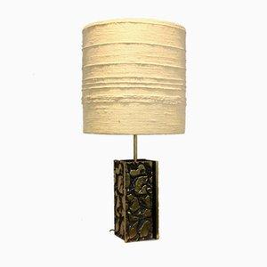 Lampe de Bureau Sculptée Brutaliste en Métal