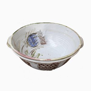 Vintage French Decorative Fruit Bowl by Albert Thiry, 1960s