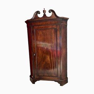 Mahogany Corner Cupboard, England, 1780s