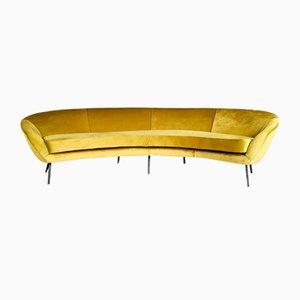 Geschwungenes Sofa im Stil von Ico Parisi, 1970er