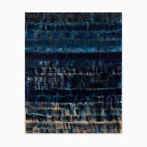 Blau auf Blau, Abstraktes Gemälde, 2020