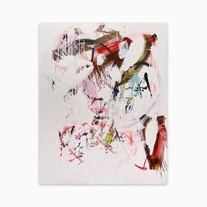Lecken einer Orchidee, abstraktes Gemälde, 2021