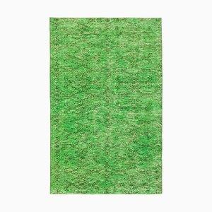 Alfombra sobreteñida en verde