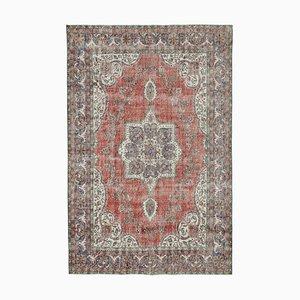 Roter türkischer Vintage Area Teppich